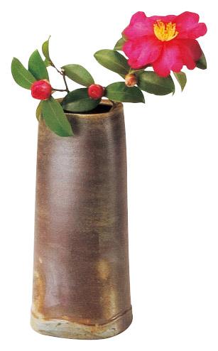 夢幻工房 桟切焼 安い 激安 プチプラ 高品質 四方花入 爆買いセール 花瓶 花器 備前焼
