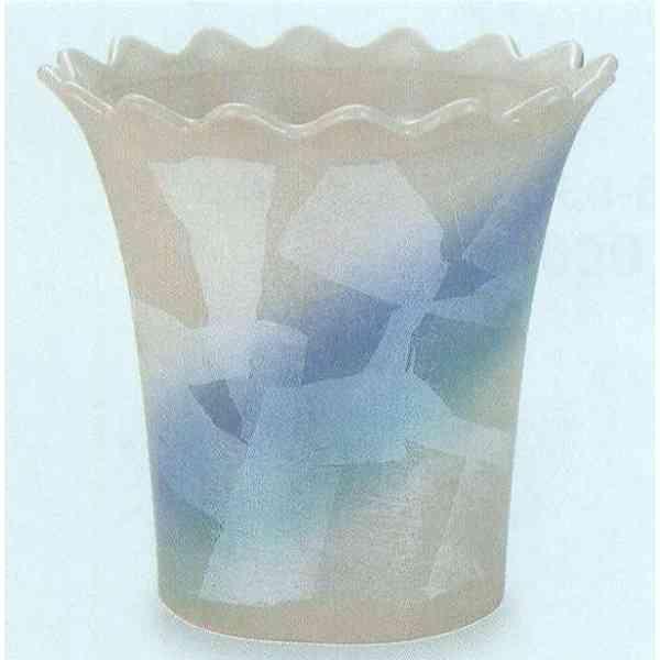 九谷焼 N35-07 フリーポット 7号 銀彩 21×21cm 化粧箱