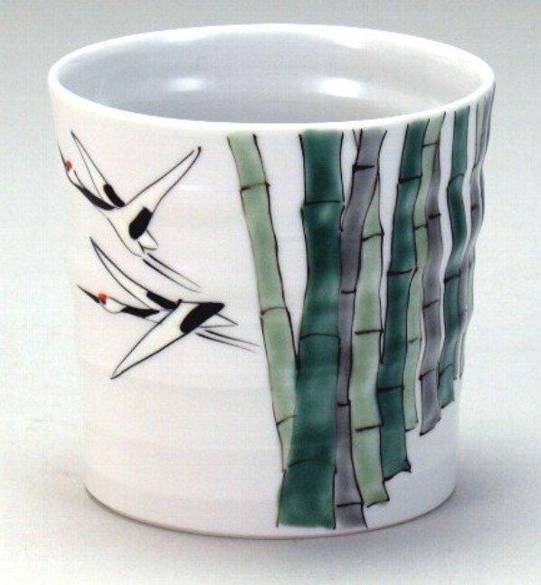 石川県伝統工芸九谷焼 ロックカップ 白九 竹鶴 <ギフト プレゼント 誕生日 お祝い 敬老の日 父の日 母の日 内祝い>