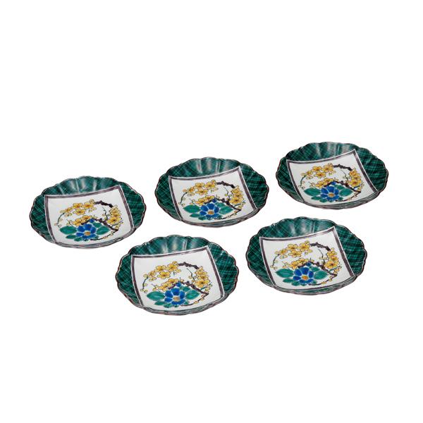 九谷焼 4.8号皿揃 古九谷風 和食器 鉢 小鉢 人気 お返し ギフト 新作送料無料 セット 贈り物 結婚祝い 内祝い ランキングTOP10