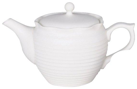 常滑焼 tea pleats ポット ホワイト