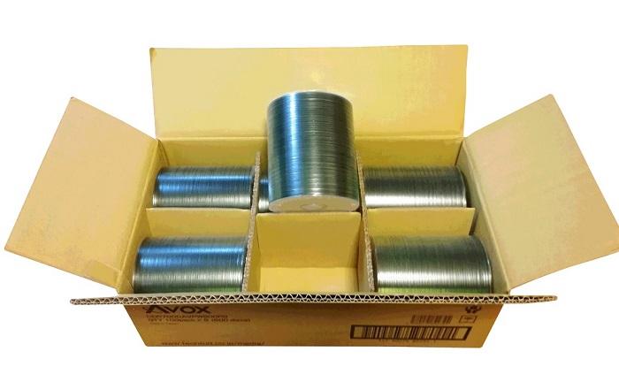 音楽業務用・高音質CD-R・600枚(6ロールパック) ・データ用 700MB 40倍速・インクジェット対応・CDR700CAVPW600PG