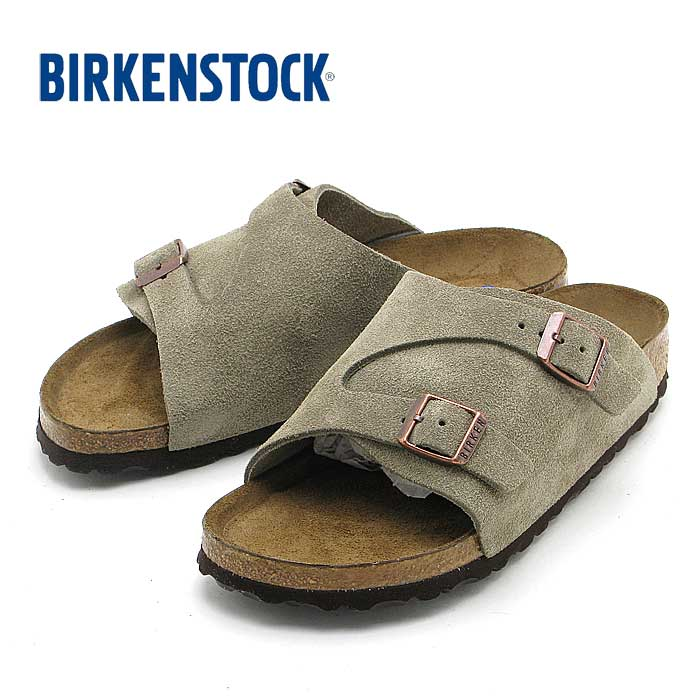 BIRKENSTOCKZurich Soft Footbed1009533(狭幅)ビルケンシュトック チューリッヒ ソフトベッド (トープ)Suede Leather
