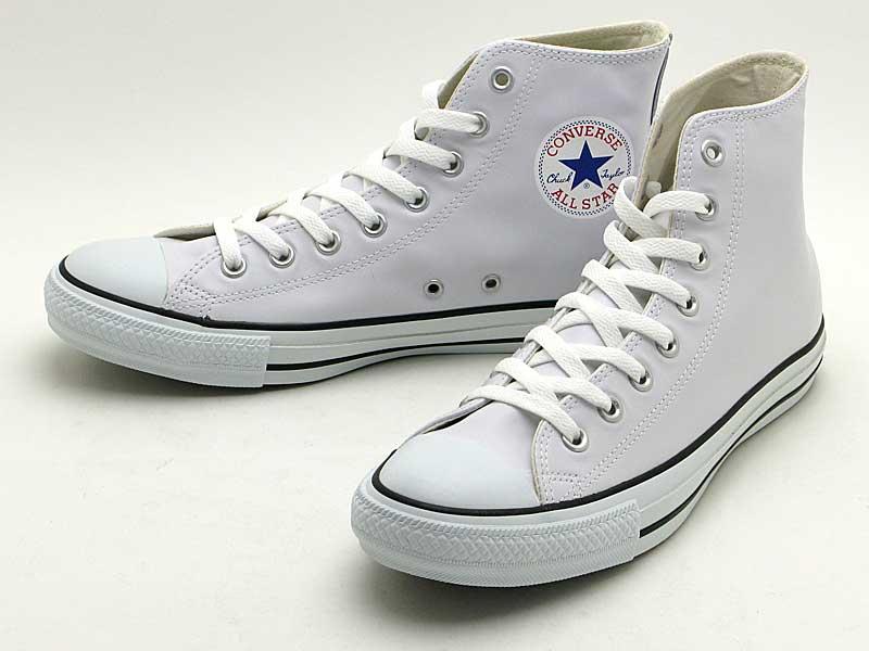 CONVERSELEA ALL STAR HI コンバース レザー オールスターHI1B907(ホワイト) 1B908(ブラック)