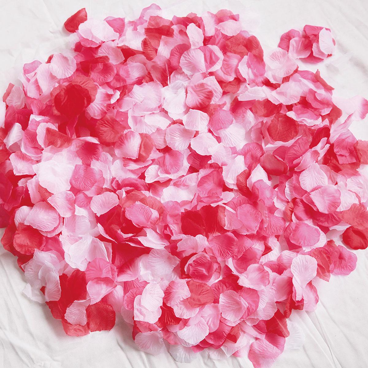 たっぷりボリュームで挙式を華やかに 新色 色調が豊富なので ゲスト参加型の演出もお祝いムードが高まります フラワーシャワー 造花 1000枚 ローズレッドMIX 5色 安心の定価販売 赤 白 ピンク バラ 薔薇 たっぷり フラワーペタル 結婚式 ウェディング セット 2次会 挙式 演出 誕生日 披露宴 写真映え 花びら showe 記念 メール便で送料無料 flower ウエルカムアイテム ブライダル 飾りr テーブル