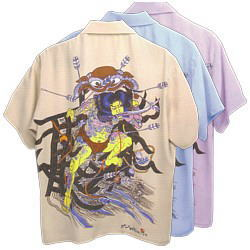 アロハシャツ SunSurf サンサーフ KEONI of HAWAII 『浮世水滸伝 竜虎』 送料無料