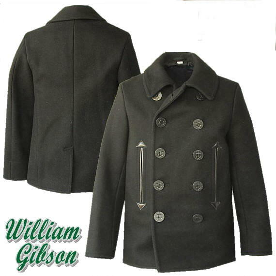ミリタリージャケット Buzz Rickson's バズリクソンズ   WILLIAM GIBSON COLLECTION   『 BLACK PEA COAT』 ブラック P コート