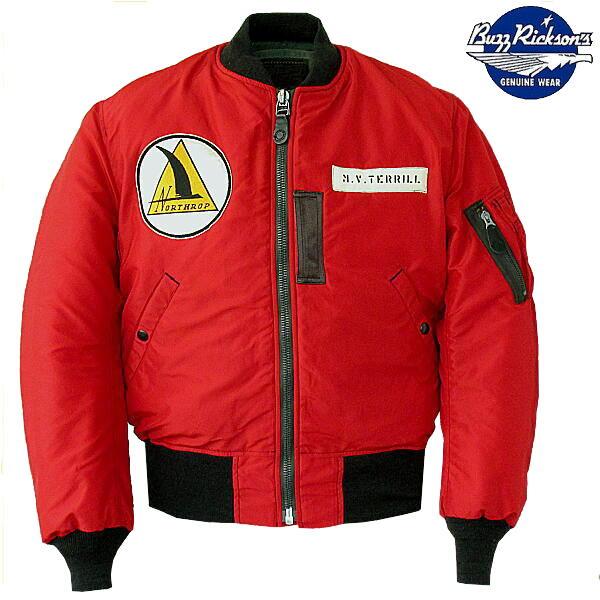 バズリクソンズ Buzz Rickson's フライトジャケット 「赤いMA-1」ミリタリージャケット