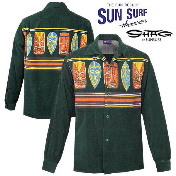 サンサーフ SUN SURF アロハシャツ 長袖 オープンカラーシャツ コーデュロイ
