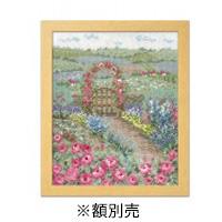 送料無料 新商品 オリムパス クロスステッチ ししゅうキット 代引き不可 オノエ メグミ 7424 バラの花咲くピーターの庭 4971451174243