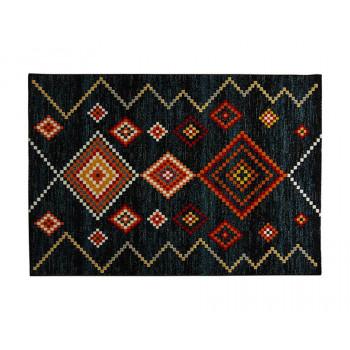 トルコ製 ウィルトン織り カーペット 約160×230cm ネイビー 2353239:QT-Life