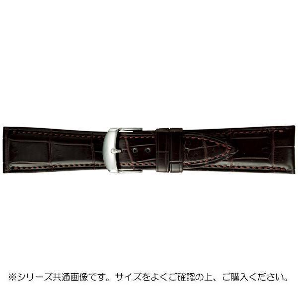 送料無料 BAMBI バンビ 時計バンド 購買 グレーシャス 4907924527889 一部地域を除く BWA030BU チョコ 美錠:白 ワニ革