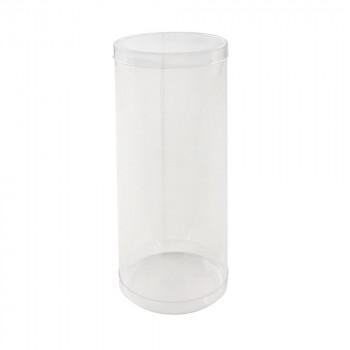 出群 送料無料 梱包資材 ラッピング用品 クリアケース 90個セット PVC円筒ケース M8-18 往復送料無料 200818
