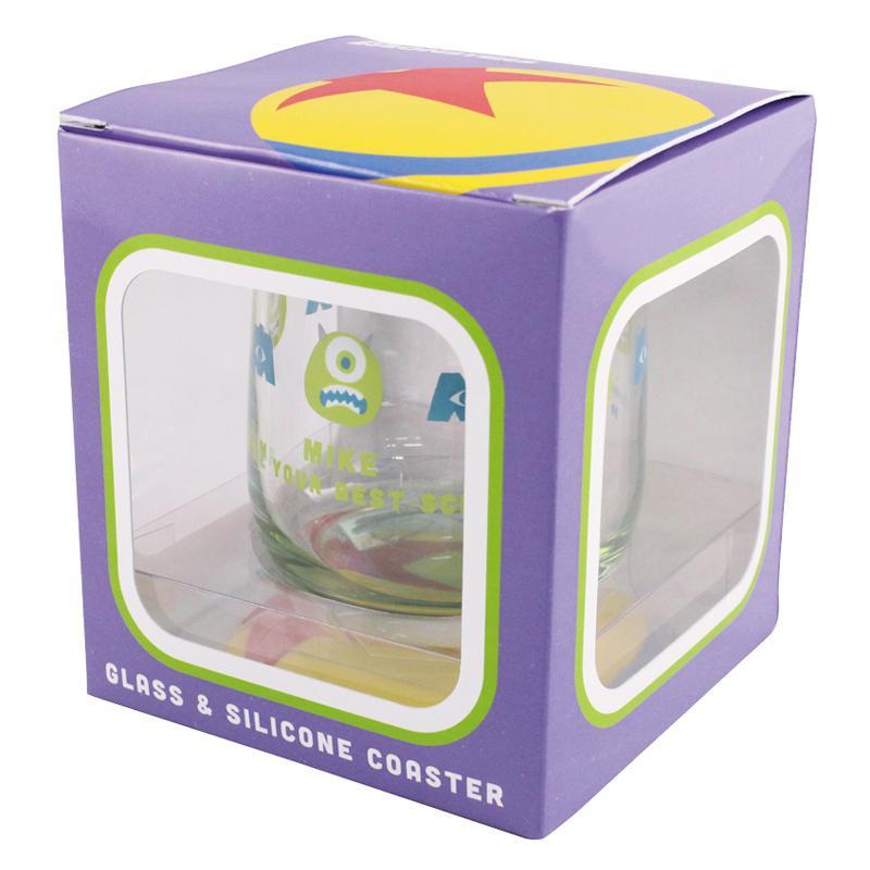 DISNEY プレゼント ディズニー モンスターズ インク グラス WDC-1502 4981181603364 コースターセット マイク 迅速な対応で商品をお届け致します MIKE