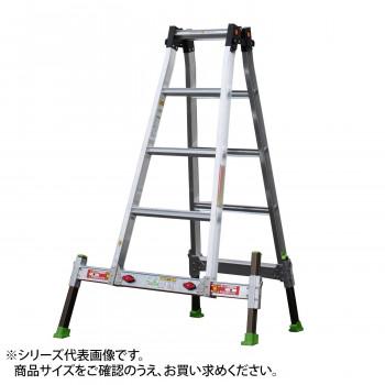 送料無料 アウトリガー一体式四脚伸縮式はしご兼用脚立 本日限定 使い勝手の良い ダン吉D D-120 4984842202449