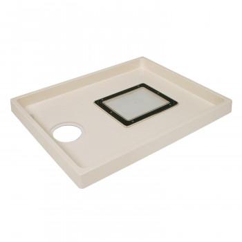 送料無料 テクノテック 洗濯機用防水パンABSエンデバー TSE800CW-1 4580157610391 セールSALE%OFF 点検口アイボリーホワイト 高品質新品