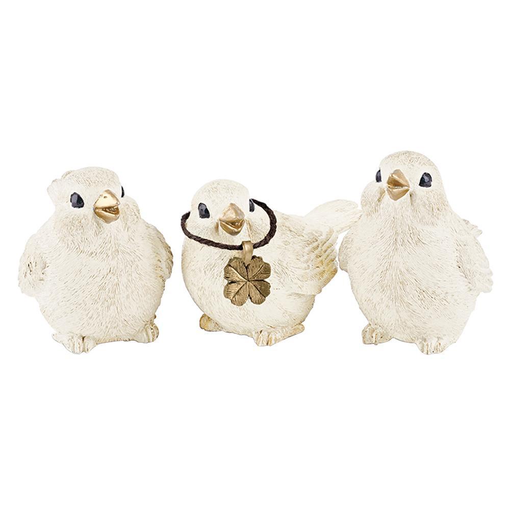 ガーデンオーナメント 3羽セットの置き型タイプ KH-61166 小烏 アウトドア ガーデニング 屋外 かわいい オーナメントセット 贈り物 鳥 置き物 おしゃれ 通販 ギフト 限定特価 4952317611669