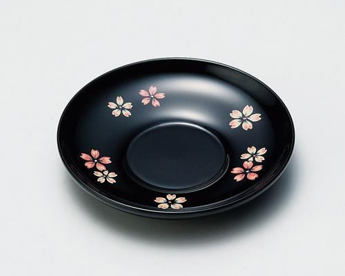 木製越前塗 桜ちらし 4.0茶托 黒 桜ちらし 黒 4.0茶托 5枚, 高品質激安 額縁画材のまつえだ:853bea89 --- sunward.msk.ru
