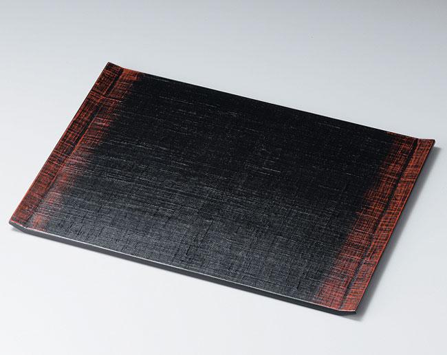 木製越前塗 両折れ布貼り膳 ぼかし塗