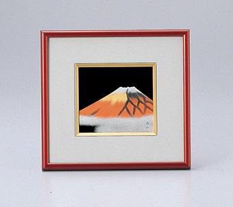 伝統工芸士 お気に入り 山本勝作 越前塗 赤富士 パネル 超激安