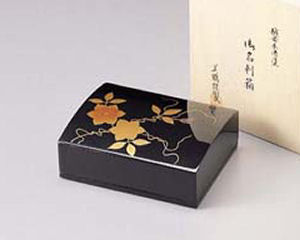 木製越前塗 鉄仙 名刺箱(大)黒