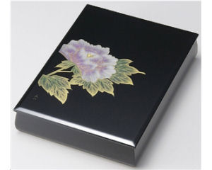 木製越前塗 沈金富貴 文庫 黒 A4サイズ