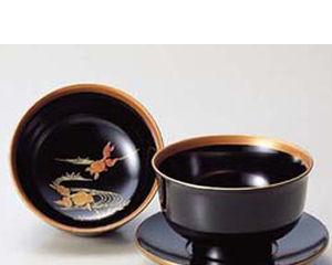 越前塗 越前塗 金魚 金魚 杯洗 杯洗 黒, 最適な価格:4d64aaec --- sunward.msk.ru