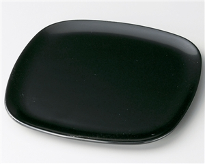 木製越前塗 木製越前塗 5枚 黒 胴張銘々皿 黒 5枚, ヒラオチョウ:4b060288 --- sunward.msk.ru