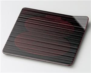 木製越前塗 瓢箪白檀 4.5寸吹上銘々皿 5枚
