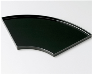 木製越前塗 尺3扇面盆 黒