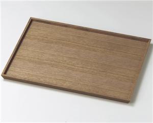 木製越前塗 ウォールナット1尺3寸長角盆