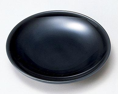 木製越前塗 4.5銘々皿 黒 5枚
