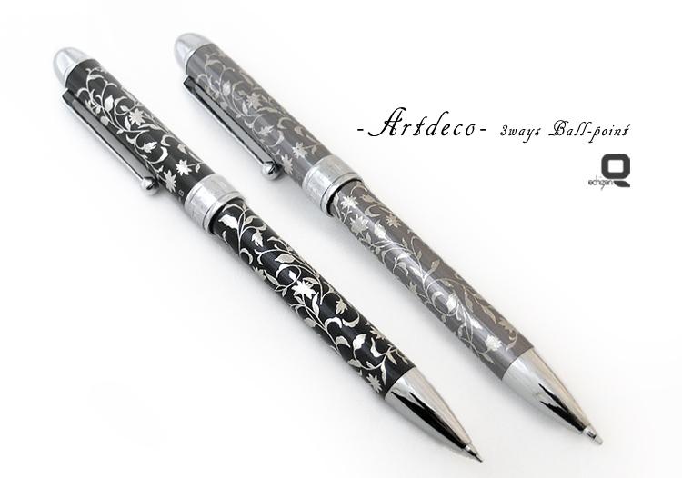 アールデコ 3ウェイボールペン
