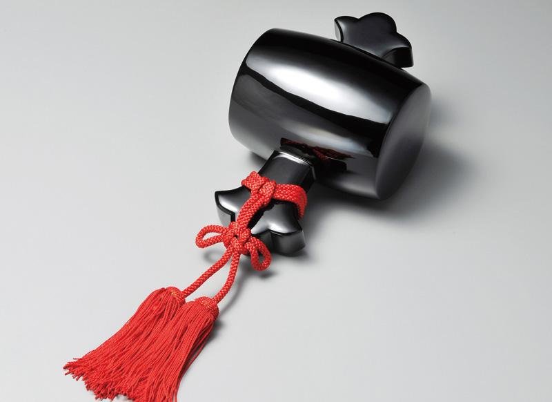 越前塗 打ち出の小槌 黒 1個