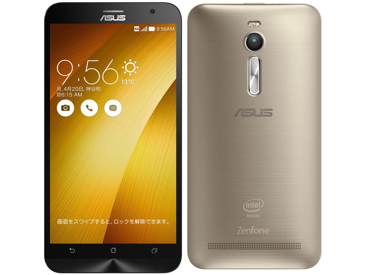 「新品 未開封品」SIMフリー ASUS ZenFone2 ZE551ML RAM4GB 64GBメモリー gold ゴールド [ASUS][simfree][格安]