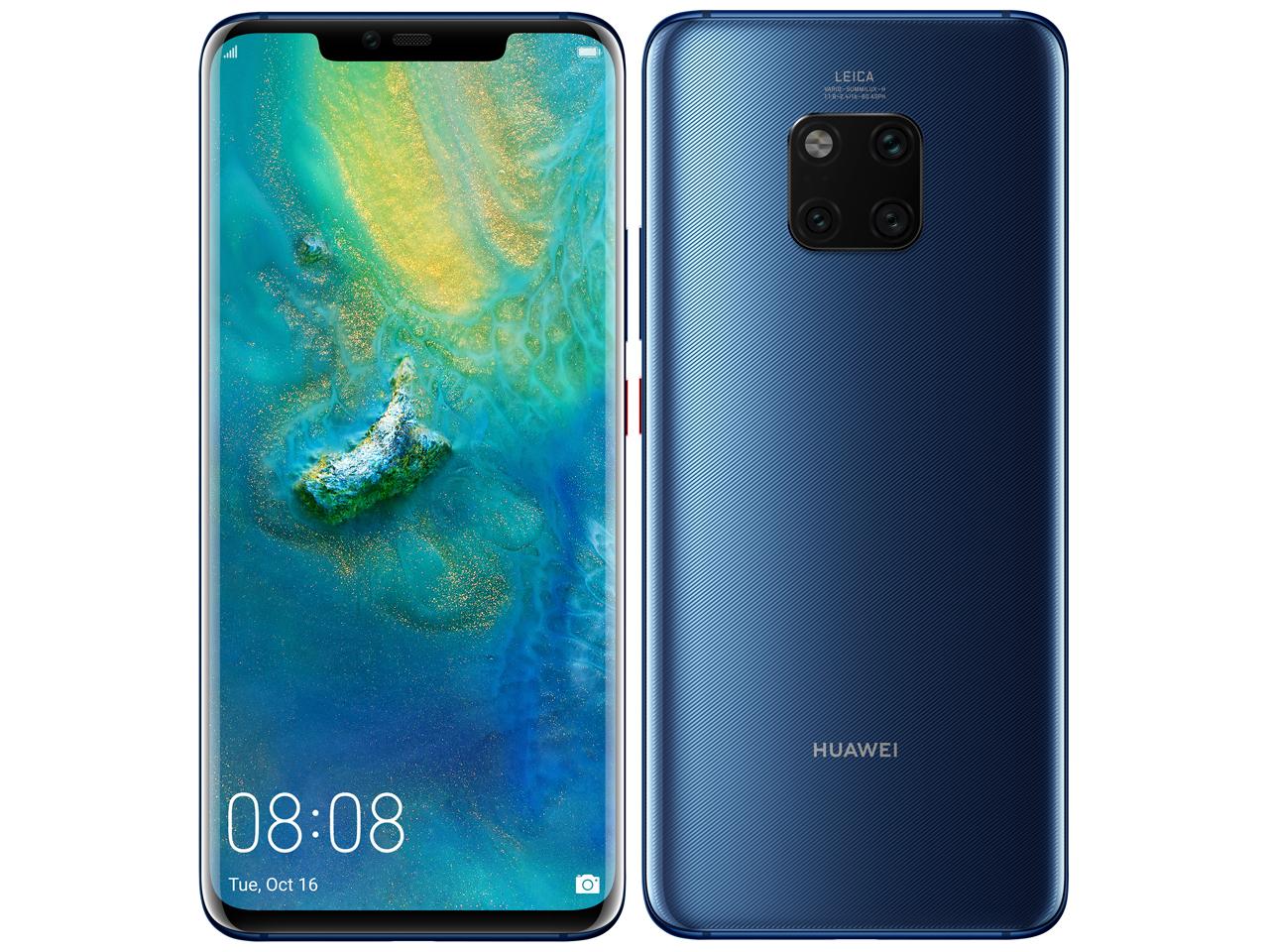 「新品 未使用品 」SIMフリー Huawei(ファーウェイ) Mate20 pro blue [LYA-L09][SoftbankからSIMロック解除済み]