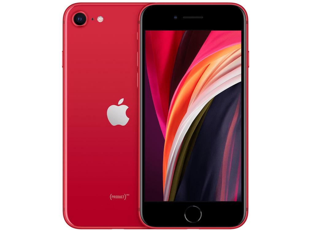 「新品 未使用品」SIMフリー iPhoneSE (第2世代) 64gb red レッド 赤ロム保証 [充電器、イヤホン付きタイプ][Apple/アップル][正規ロック解除済][MX9U2J/A][A2296][2020年モデル]