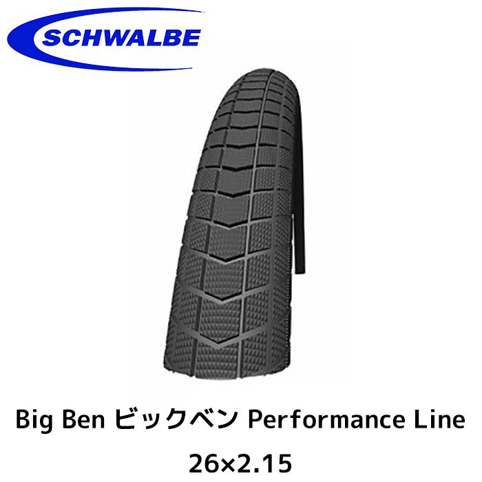 SCHWALBE シュワルベ Big Ben ビックベン Performance Line 26×2.15 Wired タイヤ 自転車 ロードバイク