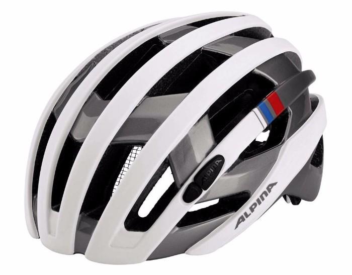 ALPINA(アルピナ) Campiglio カンピリオ Road Helmet ロードバイクヘルメット (White-Silver-Blue-Red, L(57-61)) 自転車 おすすめ