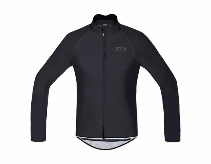 GORE Bike Wear ゴアバイクウェア POWER WINDSTOPPER ロングスリーブジャージ ジッパー付き Black S 自転車 ロードバイク