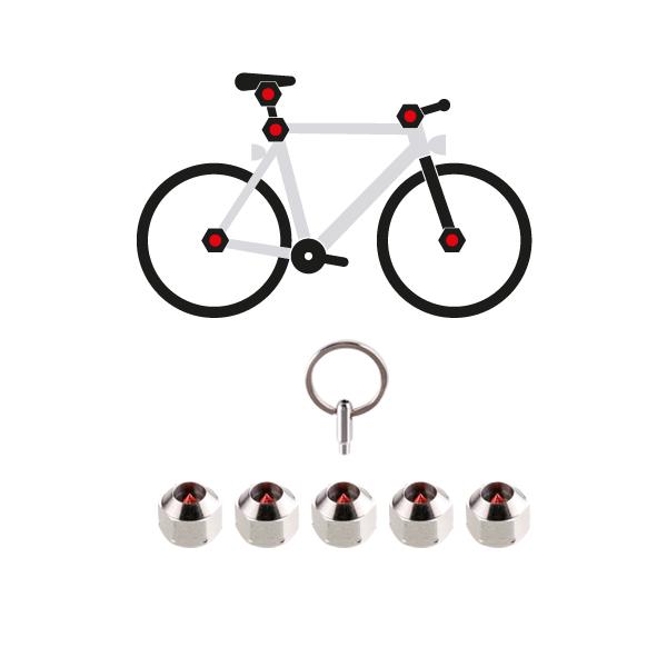 HEXLOX ヘックスロックス トータルセキュリティセット HEXLOX5個 4mm~6mm サドル ホイール 防犯 盗難防止 自転車 鍵 ロック ロードバイク 【bicycle_d19】