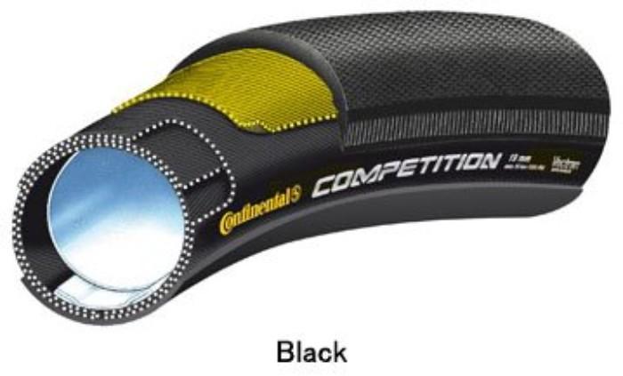 Continental コンチネンタル COMPETITION コンペティション チューブラー タイヤ 28x22mm ブラック 自転車 ロードバイク