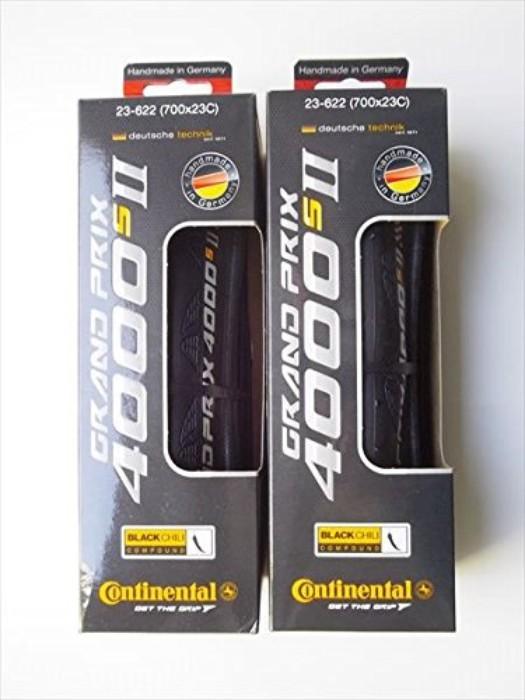 2本セット Continental コンチネンタル GRAND PRIX 4000 S II グランプリ 4000S2 700×23C 622 ブラック クリンチャー タイヤ 自転車 ロードバイク