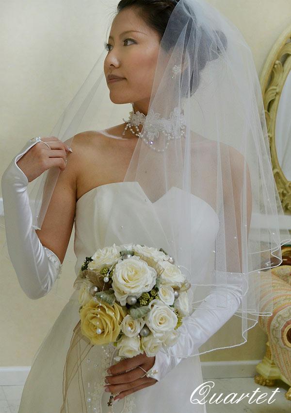 5a7c1ef787b43 ウェディングベール パールのショートベール 結婚式 ヴェール ウェディング シンプル
