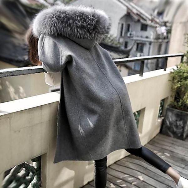 2017新作 女性 レディース ロングフード付き コート 暖かい おしゃれ 通勤 お出かけ 通学