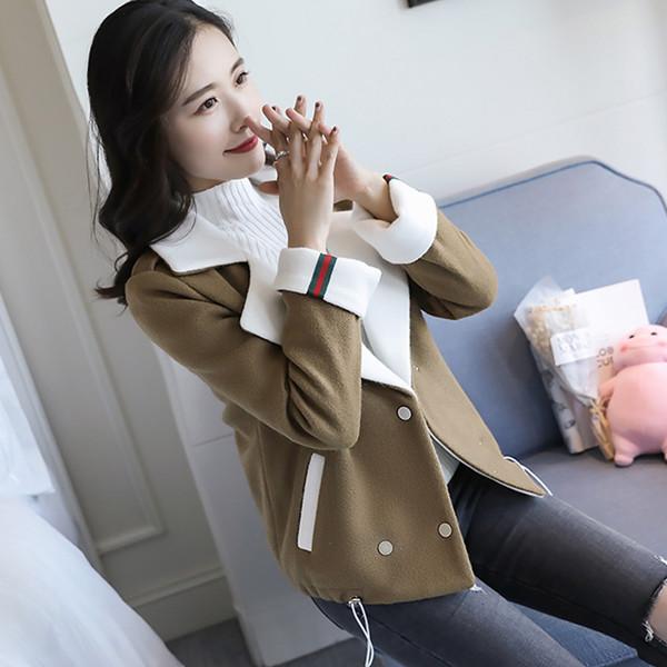 ウールジャケット女性の衣類2017秋と冬の新しい波韓国の短い段落緩いファッションの気質は高コートされた