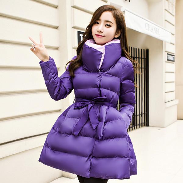 韓国のウエストコットンジャケットツツー韓国のスリム学生の綿の長いセクションで綿の女性ダウン冬のコート