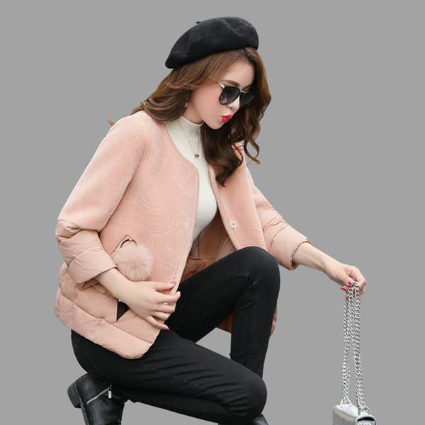 コットンショート女性2017新しい冬韓国の小さな自己栽培コットンジャケットラムウールコート女性薄い綿の服