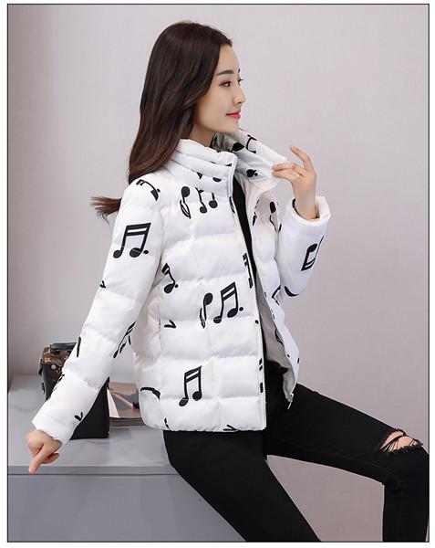 2017新しい綿の女性の短い段落の綿の印刷綿の服のコート綿の服の女性