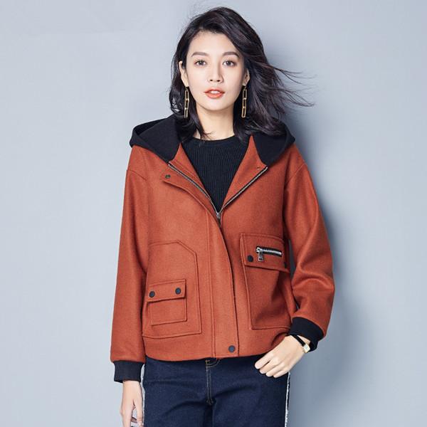 ショートウールジャケット女性2017秋と冬の新しい女性の半袖長袖の潮